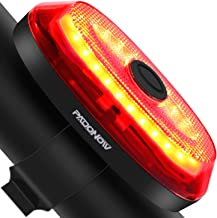 Padonow Smart Bike Tail Light: Ultra Bright Auto On/Off Flashing Lights Easy Mount Cycling Safety Warning Taillight High L...