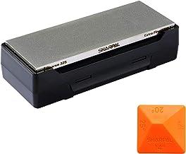 SHARPAL 162N diamantslipsten knivslipare med förvaringsbas | 2 sidkorn grov 325/extra fin 1200 | diamantslipsten | halkfri...