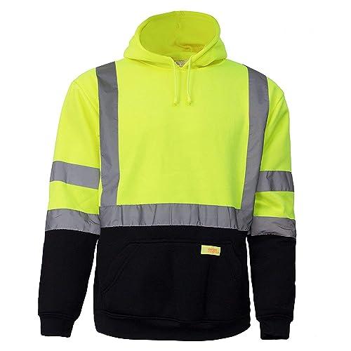 Unisex Green Soft Warm Fleece Lined Sweatshirt Jumper Size S XXXL by Workwear
