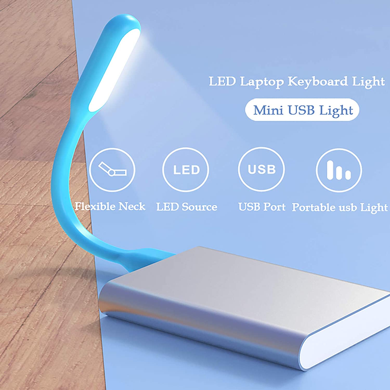 Mini USB Light,9 Pcs Mini USB Lamp,LED Laptop Keyboard Lights,Portable Flexible Reading Lamp for Power Bank,USB Adapter,Color as Shown-NaughtyKid