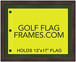 Golf Flag Frames 16x20 Brown, Moulding brn-001, Green Mat (Holds 13x17 Masters Golf Flags; Flag not incl)