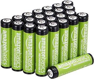 Amazon Basics AAA oplaadbare batterijen (pak van 24 stuks) 800 mAh voorgeladen