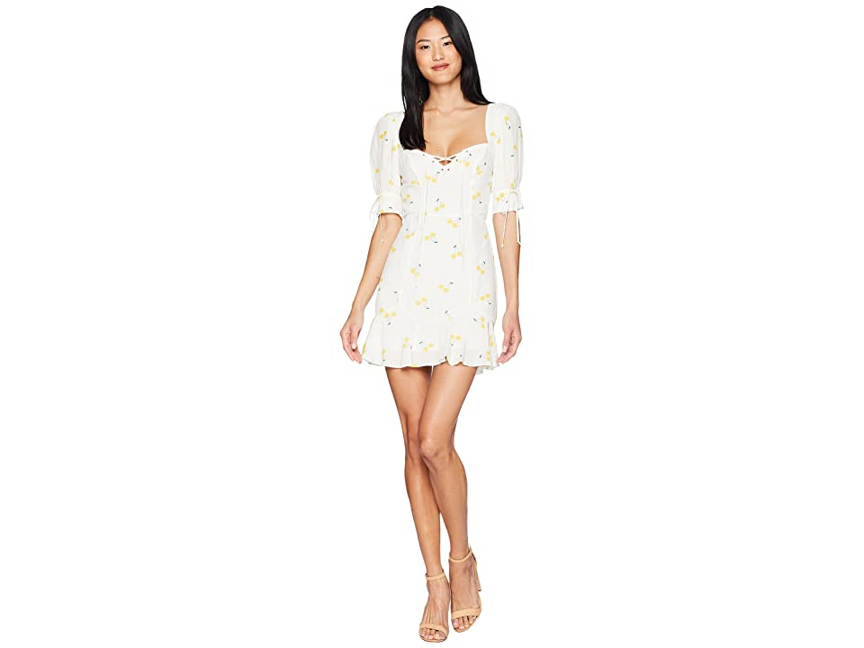 For Love and Lemons Ashland Lace-Up Dress (Cherry) Women