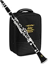 Eastar B Flat Clarinet Wind Band ECL-400 Commander Ebonite Silver Keys with Hard Case, 4C Special Practice Mouthpiece