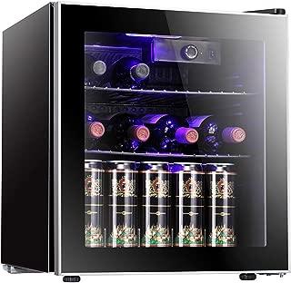 Antarctic Star 18 Bottle Wine Cooler/Cabinet Beverage Refrigerator Small Red & White Wine Cellar Adjust Temperature Beer Counter Top Bar Fridge Quiet Operation Compressor Freestanding Black