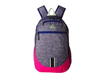 adidas Foundation V Backpack (Onix Jersey/Shock Pink/Collegiate Royal/Glow Green) Backpack Bags