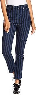 Marc Jacobs Stovepipe Stripe Denim Pants Jeans Size 25 Indigo