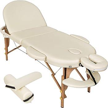 Couleur : Blanc Ivoire Plateau 3 Pi/èces Massage Imperial Panneaux Reiki Lg/ère//Mousse 7cm Table de massage pro luxe Portable Monarch