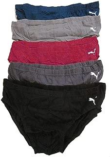 PUMA Mens Sporty Low Rise Briefs 5 Pack