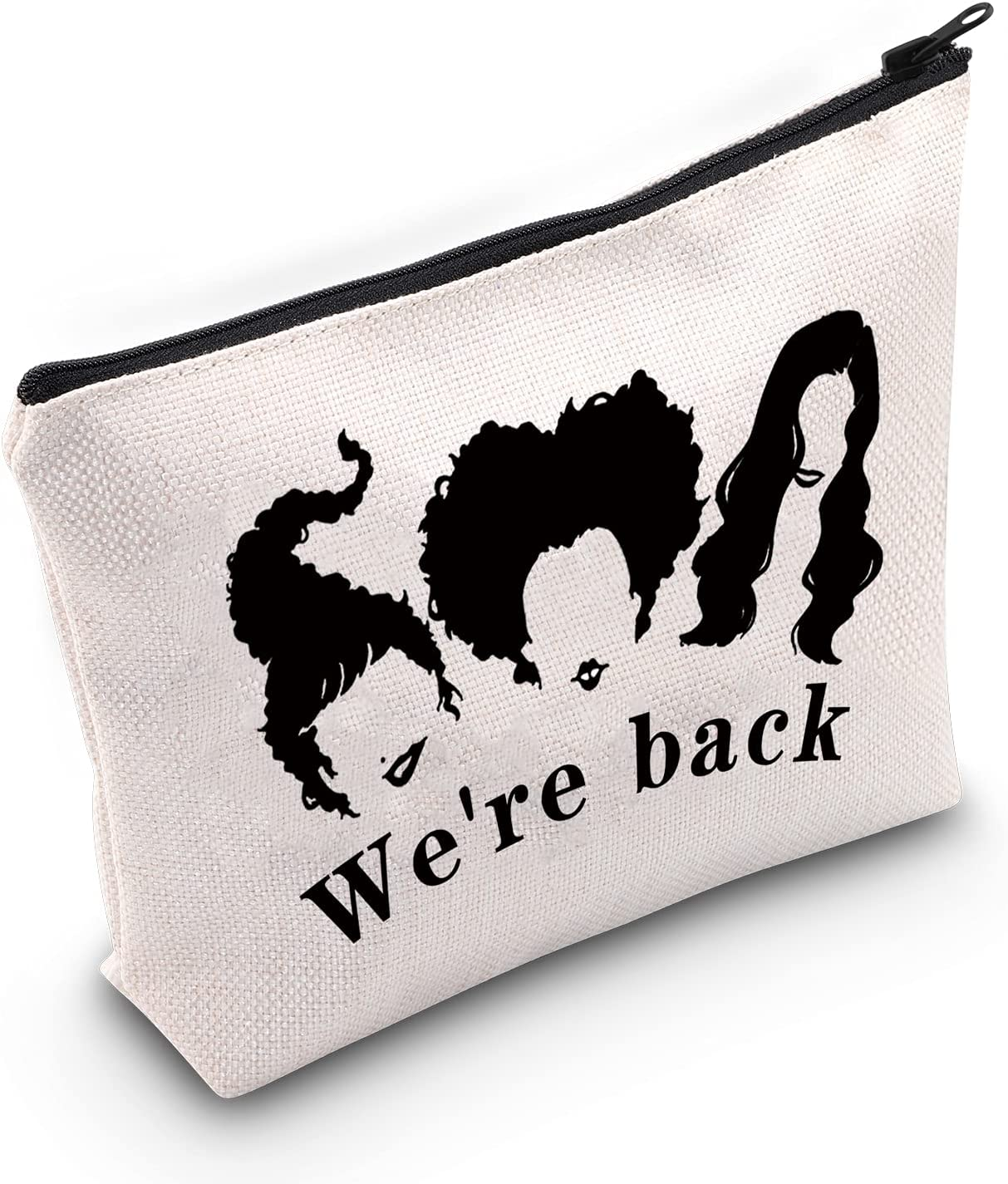 Sanderson Sisters Halloween Sales for Sales results No. 1 sale Makeup Bag Pouch H Back We're Zipper