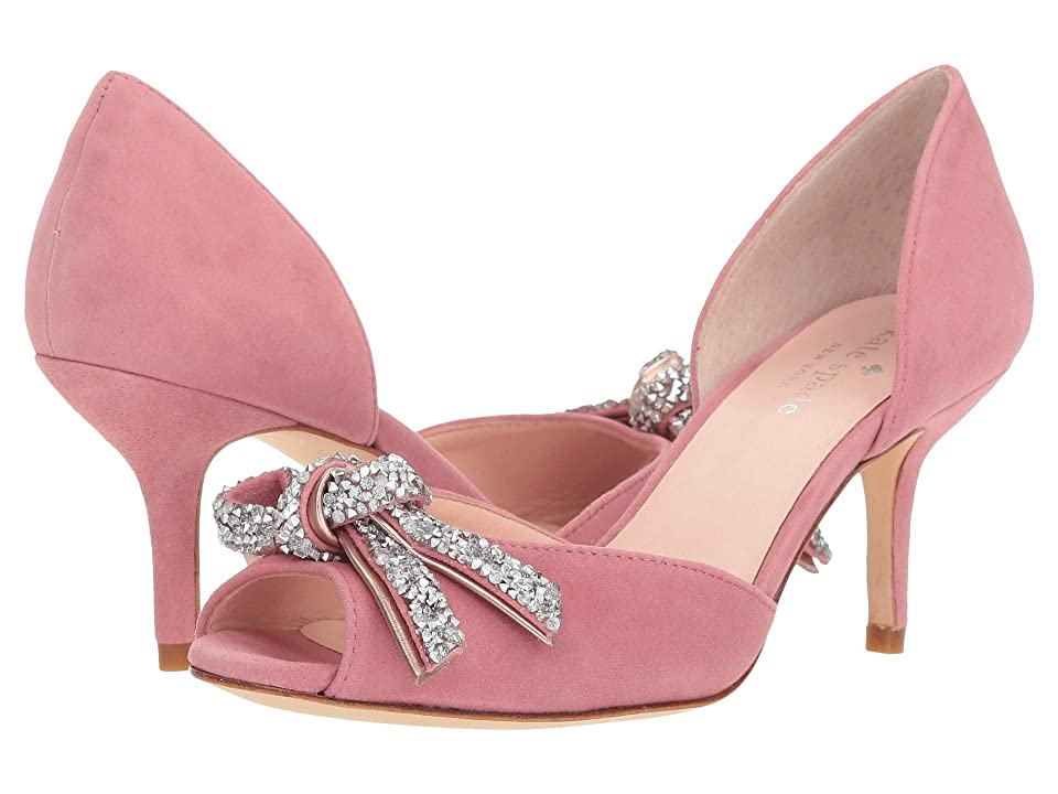 Pin Up Shoes- Heels, Pumps & Flats Kate Spade New York Sidney Pump Pink Kid Suede Womens Shoes $228.00 AT vintagedancer.com