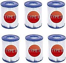 LIANHUAA Cartuchos de filtro tamaño 2, cartuchos de filtro para bombas de piscina Bestway de Bestway, para bombas de piscina Intex Bestway tamaño 2, 58094, 6 unidades