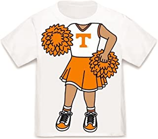 Future Tailgater Tennessee Volunteers Heads Up! Cheerleader Baby/Toddler T-Shirt