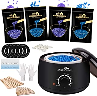 Waxing Kit, Lifestance Wax Warmer Hair Removal with 4 Bags