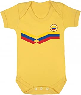 Colombia World Cup 2018 Babygrow Football Retro