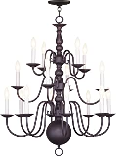 Livex Lighting 5016-07 Williamsburg 16-Light Chandelier, Bronze