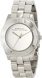 Marc By Marc Jacobs Women's Silver Dial Stainless Steel Band Watch - Mbm3125, Analog Display, Quartz Movement