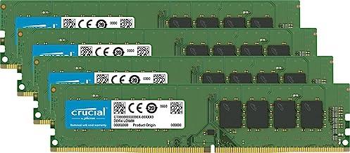 Crucial 64GB Kit (16GBx4) DDR4 2400 MT/s (PC4-19200) DR x8 DIMM 288-Pin Memory - CT4K16G4DFD824A