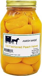 Amish Old Fashioned Peach Halves – TWO – 32 Oz Jar