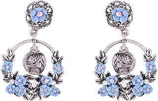 Flying Jewellery Brass Drop Earrings, Push Closure