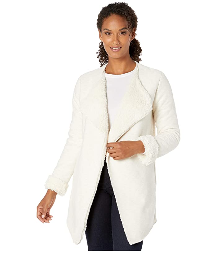 UGG  Abriana Shawl Cardigan (Cream Heather) Womens Clothing