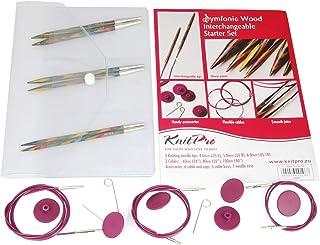 KnitPro Symfonie Set d'aiguilles circulaires en Bois interchangeables pour débutants