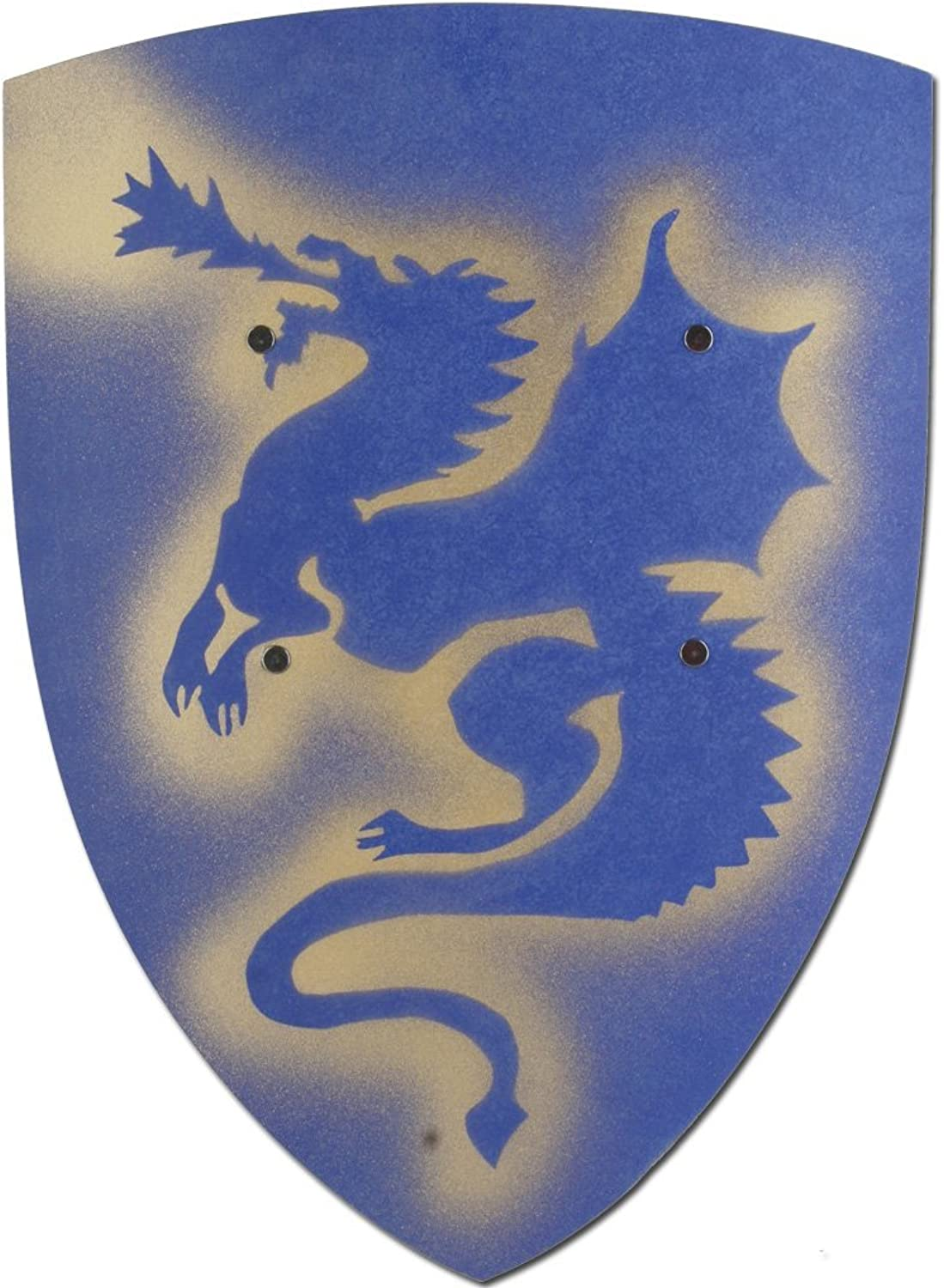 Knights Wooden Plaque  VAH 203 Dragons, bluee, Small