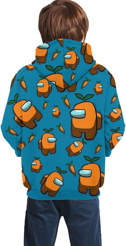 Among US Sweat /à Capuche Impression 3D Sweat /à Capuche /à Manches Longues avec Poches Casual Crewmate Impostor Streetwear Veste pour Filles gar/çons Enfants
