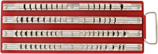 ABN Large SAE Standard Socket Holder Tray Rack Rails – 1/4, 3/8, 1/2 Inch Drive 80-Piece Clips for Tool Organization