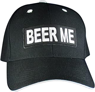0ce36fd10cc AffinityAddOns Beer ME Drinking Hat - Embroidered Patch Baseball Cap Black
