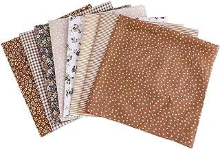Artibetter 8 Pcs Tissu Bundle Carrés Coton Patchwork Peluche Étoile Rayure Motif pour Bricolage Artisanat Couture Quilting...