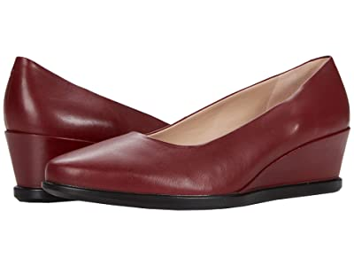 ECCO Shape 45 Wedge Pump (Syrah Cow Leather) Women