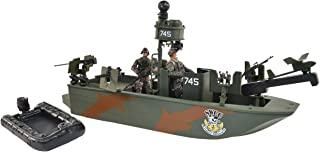 Sunny Days Entertainment Naval Special Warfare Gunboat – Vehicle Playset with 2 Action Figures and Realistic Accessories | Military Boat Toy Set for Kids – Elite Force