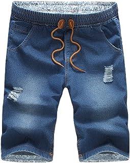 d2c6c0c18eee Aancy 2018 New Mens Jeans Cotton Shorts Thin Breathable Denim Shorts Men  Loose Lace-up