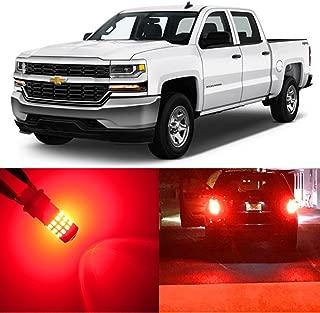Alla Lighting 2pcs Super Bright 3047 3157 Red LED Bulbs for Rear Turn Signal Brake Stop Tail Light Lamps for 1999~2013 Chevy Chevrolet Silverado 1500/2000~2014 Silverado 2500 HD 3500 HD Classic