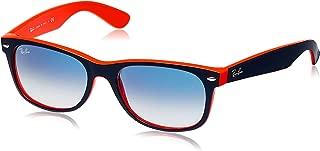 RAY-BAN RB2132 New Wayfarer Sunglasses, Blue & Orange/Blue Gradient, 55 mm