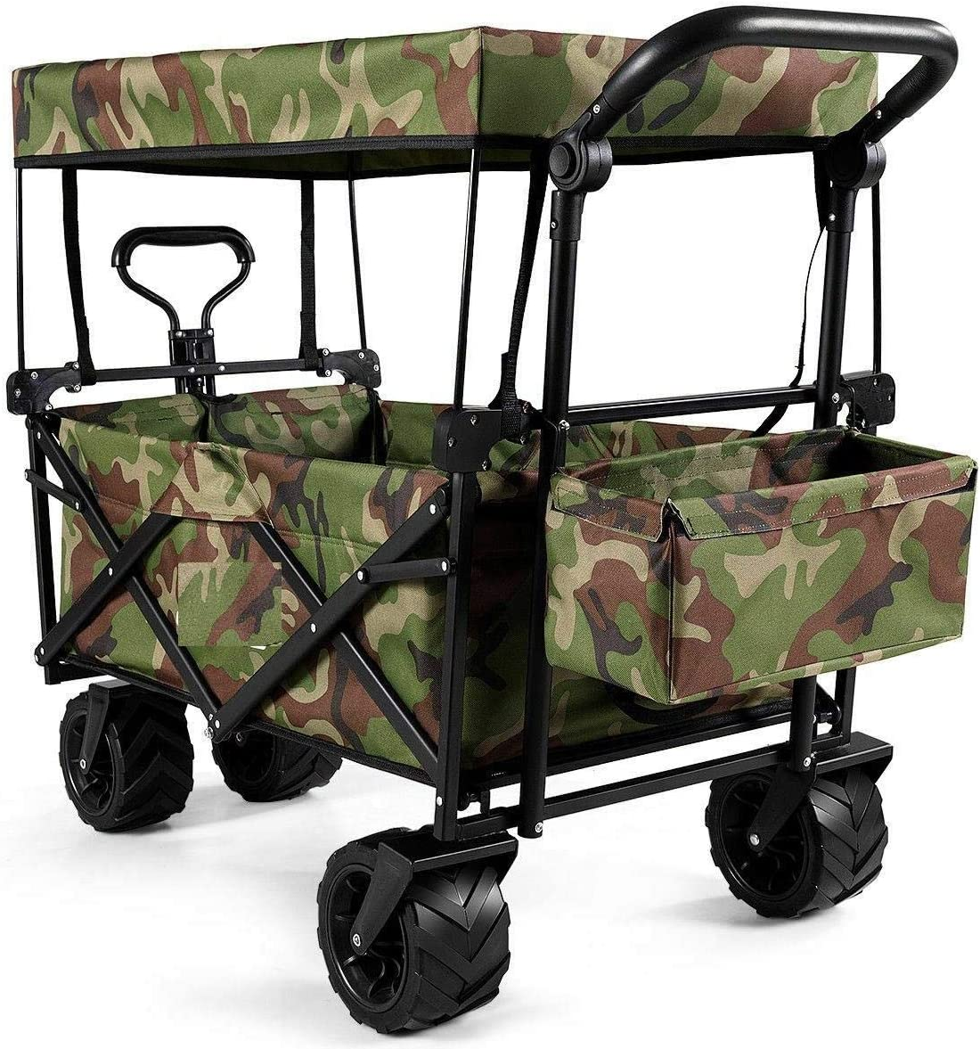 Collapsible Folding shopping Wagon Cart W Utility Garden Outdoor Canopy Nippon regular agency