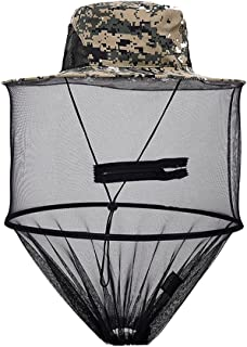 F Fityle Digital Camouflage Beekeeper Anti-mosquito Hat Insect Head Net Fly Mask Cap