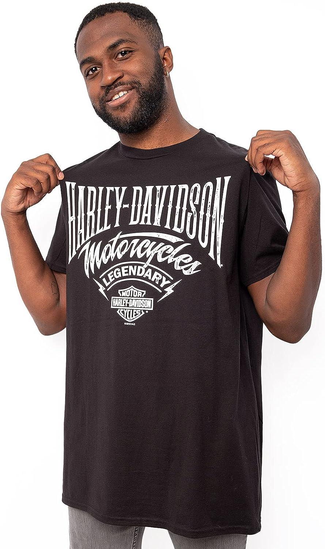 Harley-Davidson Mens MC Script B&S Black Short Sleeve T-Shirt
