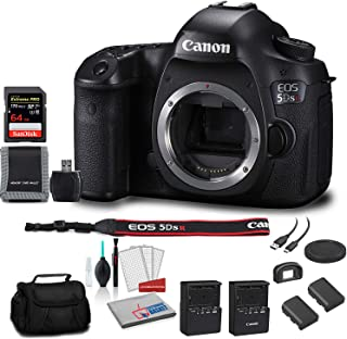 Canon EOS 5DS R DSLR Camera(Body Only) Bundle with 64GB Memory Card + Carrying Case + Spare Battery + More - International Version