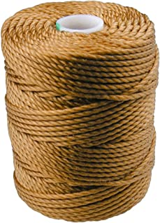 C-LON Tex 400 Heavy Weight Bead Cord, Gold - 1mm, 39 Yard Spool
