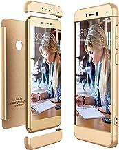 CE-Link Funda Huawei P8 Lite 2017, Carcasa Fundas para Huawei P8 Lite 2017, 3 en 1 Desmontable Ultra-Delgado Anti-Arañazos Case Protectora - Oro