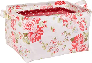 NEOVIVA Open Storage Bins for Home Organization, Waterproof Storage Basket Set of 3 for Kitchen, Bathroom, Laundry, Closets and Shelf, Floral Lollipop Red