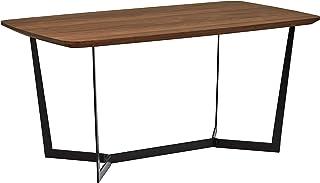 Marque Amazon -Rivet - Table de salle à manger au style industriel, largeur 160cm, Noyer