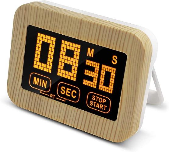 WYUE Minuterie électronique, minuterie Lumineuse pour écran Tactile - Plastique, minuterie de Cuisine rétroéclairée (2 pièces)
