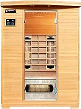 Cabine thermique infrarouge Artsauna Aalborg Cabine infrarouge avec syst/ème de chauffage Triplex 120 x 120 cm 2 personnes cabine en bois Hemlock