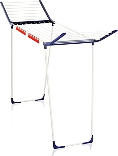 Leifheit 81650 Pegasus Maxx Air Dryer, Foldable Drying Rack, Tall and Stable Drying Stand with extandable Wings, Big ...