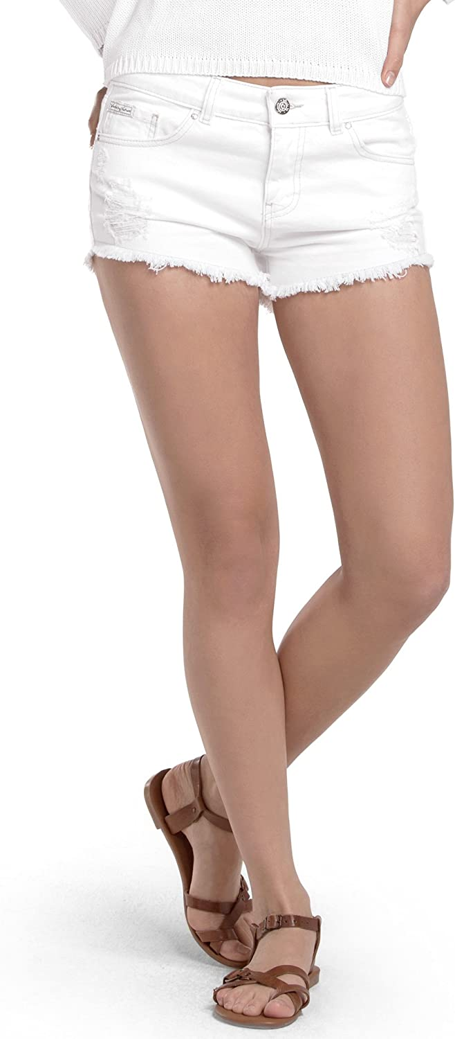 White by Nature Women's Ripped Daily bargain sale Short Denim Direct stock discount