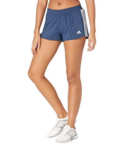 adidas Pacer 3-Stripes Woven Shorts (Crew Navy/White) Women