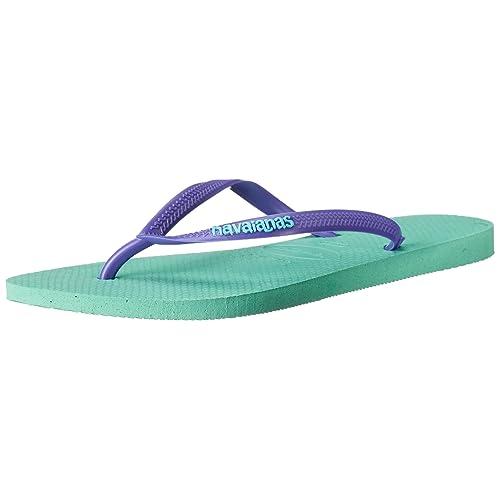 fc2e9e20f Havaianas Women s Slim Logo Pop Up Multicolored Flip-Flop Sandals